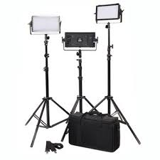 led studio lighting kit dof 240 bi color led video studio lighting camera panel led video