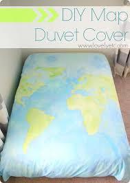 How To Make Duvet Covers Painted World Map Duvet Cover Lovely Etc