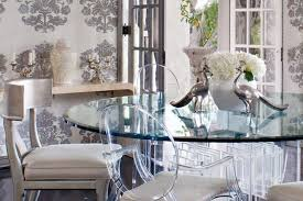 dining room classic wishbone chairs in lovely blue steal the