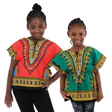 africa imports traditional print elastic child dashiki