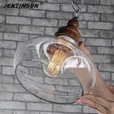 vintage glass pendant light wood grain clear glass lshade pendant light vintage glass pendant