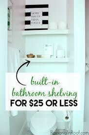 Shelves For Bathroom Built In Bathroom Shelving Diy For 25 Or Less
