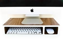 monitor stand riser walnut colored laminate 3 sizes