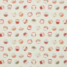 Orange Curtain Material Owls Curtain Fabirc Red Orange Great Range Of Affordable Curtain