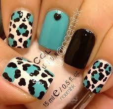 cheetah print nail art designs ideas image