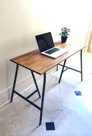 Diy Glass Desk Desk Chrome Trestle Desk Legs Trestle Table Legs Diy Glass Top