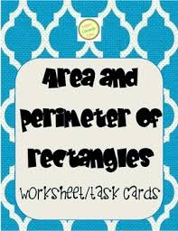 and perimeter of rectangle word problems worksheet and task cards