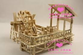 wooden kit 3d wooden puzzle house model waterwheel mill turn kit ebay