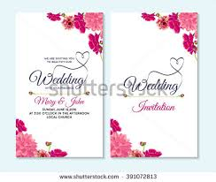 Wedding Invatation Wedding Invitation Thank You Card Save Stock Vector 391072813