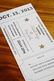 Movie Ticket Wedding Invitations Get Awesome Invitations Guestbooks And All The Attention You