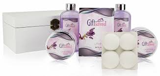 amazon com spa gift basket with sensual lavender fragrance