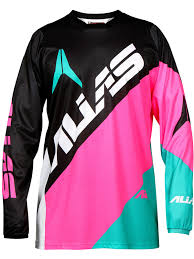 pink motocross gear alias black neon pink 2017 a2 blocked mx jersey alias