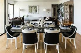 black and white dining room ideas black dining room chairs with white table decor crave