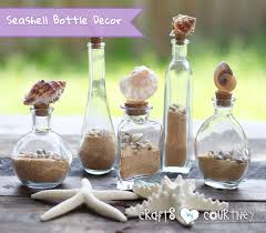 easy to make decorative seashell bottles