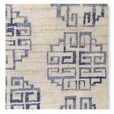 William Sonoma Kitchen Rugs Zeba Hand Knotted Rug Blue Williams Sonoma