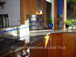 lightstreams glass kitchen backsplash tile galaxy blue