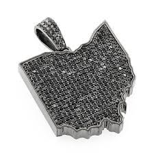 custom silver pendants custom pendants black diamond ohio state pendant in sterling