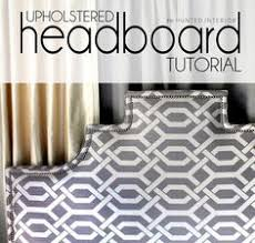 Diy Fabric Headboard by How To Make A Contemporary Upholstered Headboard For Under 30