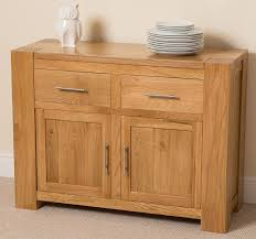 kuba solid oak small side board cabinet 110 x 42 x 82 cm