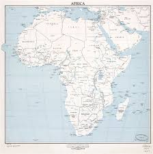 africa map with country names and capitals large scale detailed political map of africa with marks of