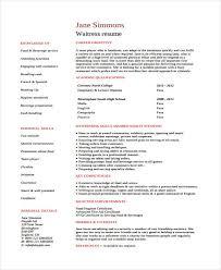 Restaurant Server Resume Template Example Of Waitress Resume Resume Example And Free Resume Maker