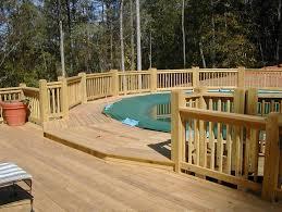 above ground swimming pool deck designs swimming pool decks above