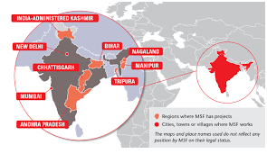 Mumbai India Map by Msf Focus On India