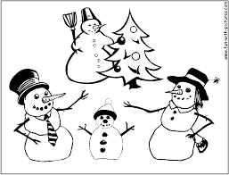 snowman family coloring coloring pages