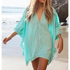 s fashion solid cotton hollow crochet swimwer