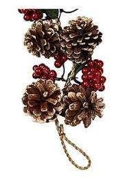 cedar pine cone and berry garland factory direct