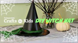 halloween witch craft diy witch hat halloween crafts for kids pbs parents youtube