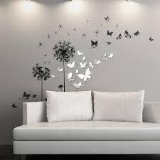 ebern designs viens mirror butterfly transparent dandelion wall