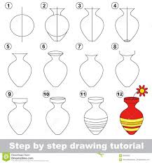Vase Drawing Simple Drawings Of Vase How To Draw Flowers In A Vase