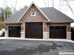 brick garages designs three dark brown coloring of garage doors brick garages designs three dark brown coloring of garage doors with brick wall exterior