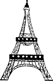 clipart eiffel tower charcoal sketch