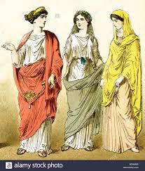 the figures represent three ancient roman women the illustration