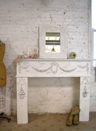 Shabby Chic Fireplace Mantels by Fireplace Mantels The Painted Cottage Vintage Painted Furniture
