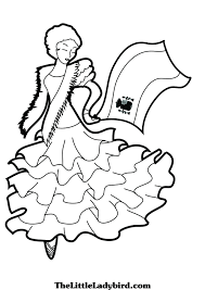 coloring download flamenco dancer coloring page flamenco dancer