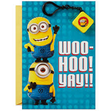 despicable me minions birthday card with light and sound backpack