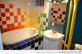 colorful bathroom ideas 15 lively multi colored bathroom designs home design lover