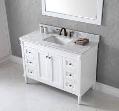 Virtu USA Tiffany  Bathroom Vanity Cabinet In White Bathtubs Plus - 48 white bathroom vanity cabinet