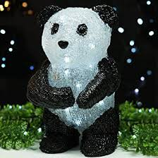 bright zeal 11 acrylic panda led solar lights outdoor led