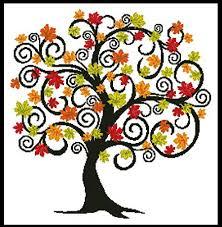 decorative autumn tree cross stitch pattern trees