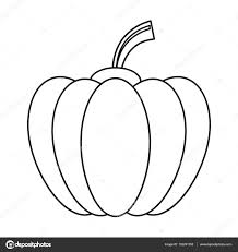 outline pumpkin harvest bittersweet vegetable icon u2014 stock vector