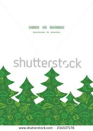 vector environmental christmas tree silhouette pattern stock