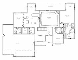 Great House Plans House Plan Single Level Great Room Ranch Basement Plan The