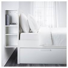 ikea headboard brimnes bed frame w storage and headboard white luröy standard