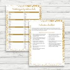 wedding planner calendar gold wedding planner gold wedding binder gold wedding checklist