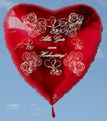 zum hochzeitstag ballonsupermarkt onlineshop de roter herzluftballon alles gute