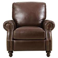 Brown Leather Recliner Recliner Brown Chairs Living Room Furniture The Home Depot